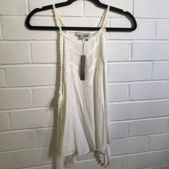 Solemio Summer Tank Top with Tie Sides - Sz Small